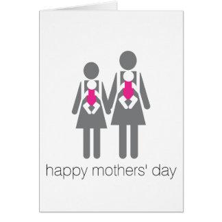 Tarjeta ¡El día de madres feliz!