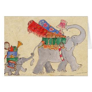 Tarjeta El día de mudanza de los elefantes
