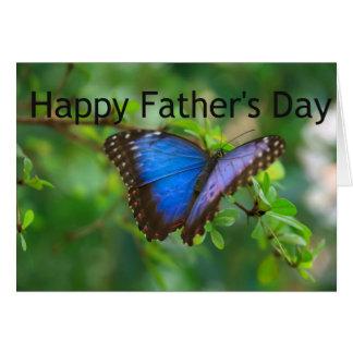 Tarjeta El día de padre de la mariposa