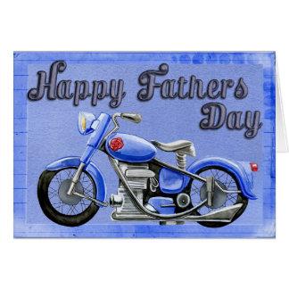 Tarjeta El día de padre de la motocicleta