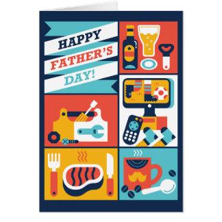 Tarjeta ¡El día de padre feliz!