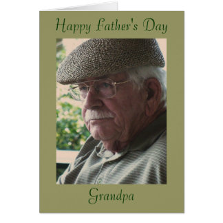 Tarjeta El día de padre feliz, abuelo