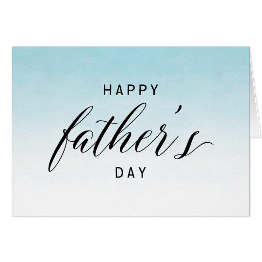 Tarjeta El día de padre feliz azul de la acuarela el | de