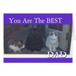 Tarjeta El día de padre feliz de gatos