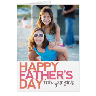 Tarjeta ¡El día de padre feliz de sus chicas!