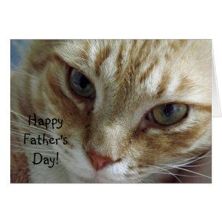 Tarjeta El día de padre feliz del gato
