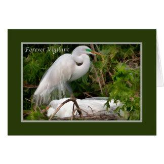 Tarjeta El día de padre, grandes Egrets de la