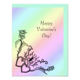 Tarjeta El día de San Valentín - corazón y mariposa en el
