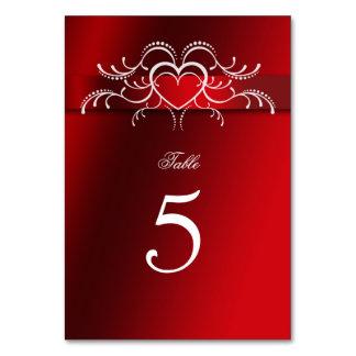 Tarjeta El día de San Valentín, corazones, boda, número de