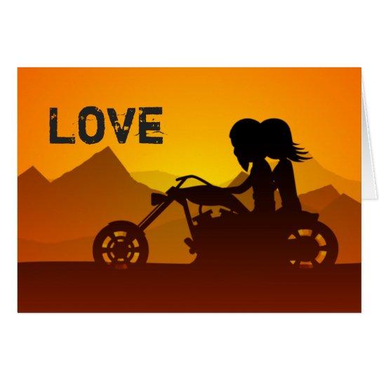 Tarjeta El día de San Valentín de las montañas del AMOR de