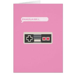 Tarjeta El día de San Valentín del videojugador del