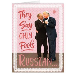 Tarjeta El día de San Valentín divertido de Donald Trump
