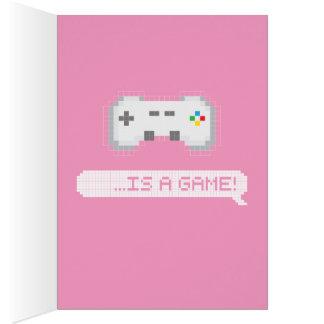 Tarjeta El día de San Valentín - el amor es un juego