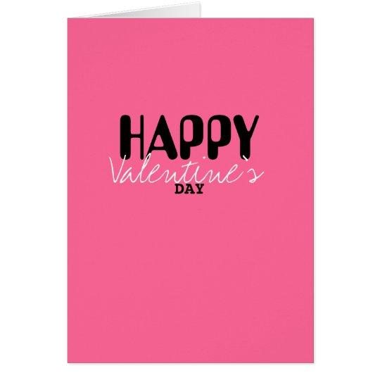 Tarjeta el día de San Valentín feliz