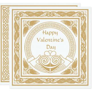 Tarjeta El día de San Valentín feliz céltico con el