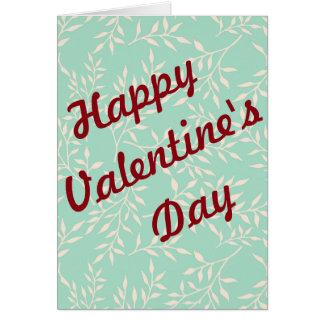 Tarjeta El día de San Valentín feliz no tradicional