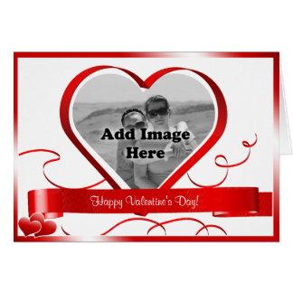 Tarjeta ¡El día de San Valentín feliz! Plantilla de la