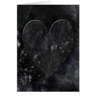 Tarjeta El día de San Valentín gótico del cielo nocturno