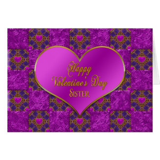 Tarjeta El día de San Valentín - hermana -