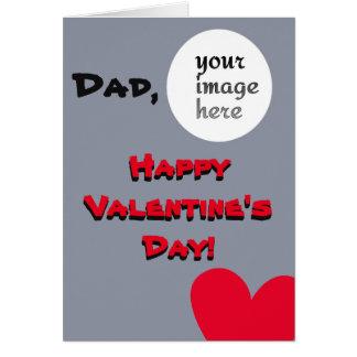 Tarjeta El día de San Valentín personalizado para el papá