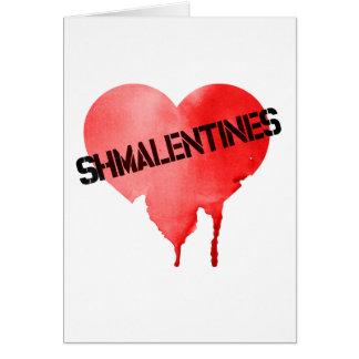 Tarjeta El día de Shmalentine del el día de San Valentín