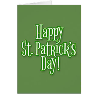 Tarjeta El día de St Patrick