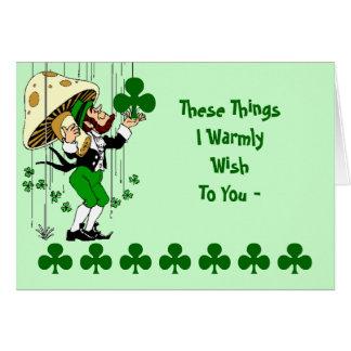 Tarjeta El día de St Patrick de bendición irlandés de la