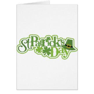 Tarjeta El día de St Patrick, diseño del irlandés de San