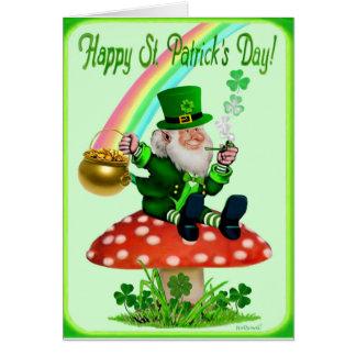 Tarjeta El día de St Patrick feliz