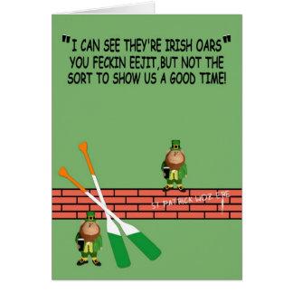 Tarjeta El día de St Patrick hilarante