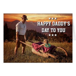Tarjeta El día del papá de la foto de la hija del papá de