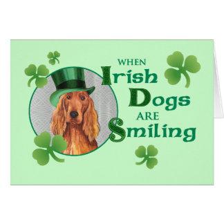 Tarjeta El día Irish Setter de St Patrick