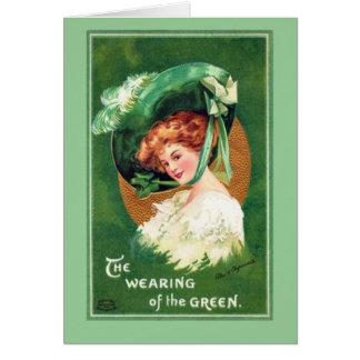Tarjeta El día Notecard de San Patricio del vintage