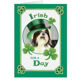 Tarjeta El día Shih Tzu de St Patrick