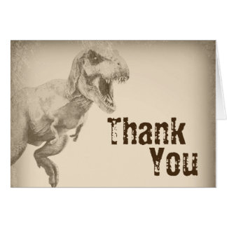 Tarjeta El dinosaurio de los niños le agradece las