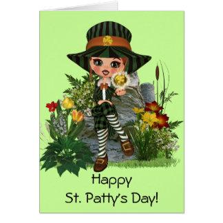 Tarjeta El diseño de St Patrick de ofrecimiento de Kelly