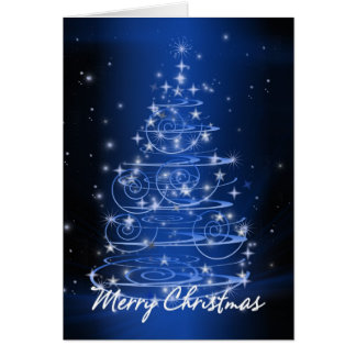 Tarjeta El diseño del árbol de navidad protagoniza y