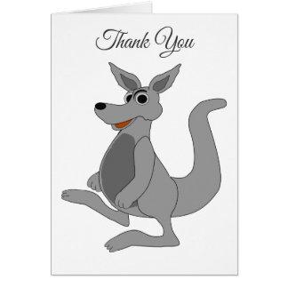 Tarjeta El diseño personalizado del canguro le agradece