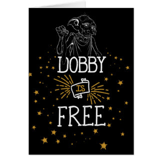 Tarjeta El Dobby de Harry Potter el | está libre