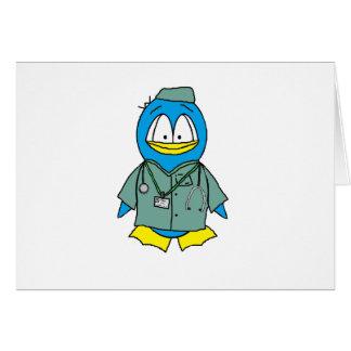 Tarjeta El doctor Penguin