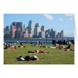 Tarjeta El domingo por la tarde en Hoboken