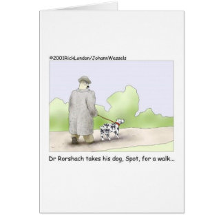Tarjeta El Dr. Roarshach Cartoon Gifts, camisetas, y