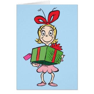 Tarjeta El Dr. Seuss el | Cindy-Lou que - llevar a cabo el