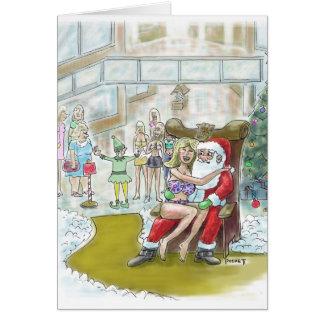 Tarjeta ¡El duende de Santas ayuda hacia fuera a grande!