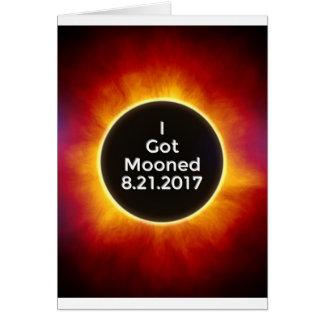Tarjeta El eclipse solar americano consiguió el 21 de