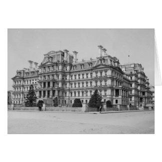 Tarjeta El edificio de oficinas ejecutivo viejo en 1902