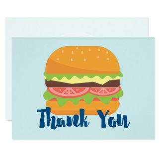 Tarjeta El ejemplo de la hamburguesa le agradece