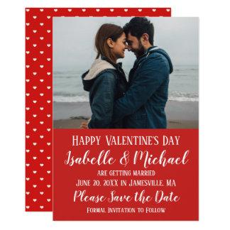 Tarjeta El el día de San Valentín feliz y ahorra la