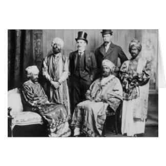 Tarjeta El emperador de Abyssinia y de su Court