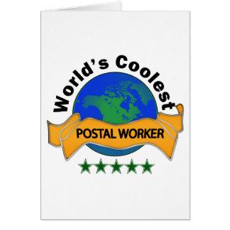 Tarjeta El empleado de correos más fresco del mundo
